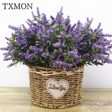 1 bukiet piankowy kwiat lawenda sztuczny bukiet kwiatów do domu ślub sztuczne kwiaty do dekoracji strona dekoracja na urodziny