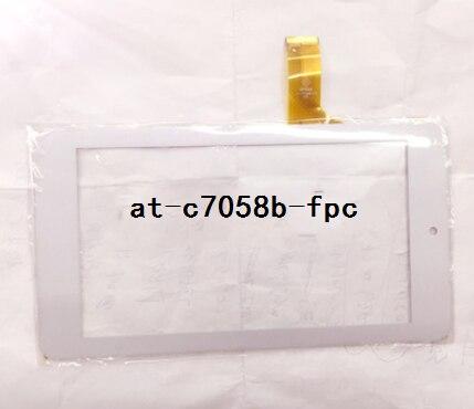 Новый оригинальный at-c7058b-fpc емкостный сенсорный экран белый/черный бесплатная доставка