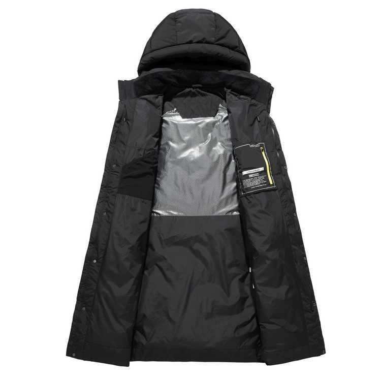 2019 abrigo de invierno para hombre moda clásica chaqueta de plumón Parka de alta calidad informal para hombre de negocios engrosamiento cálido abrigo