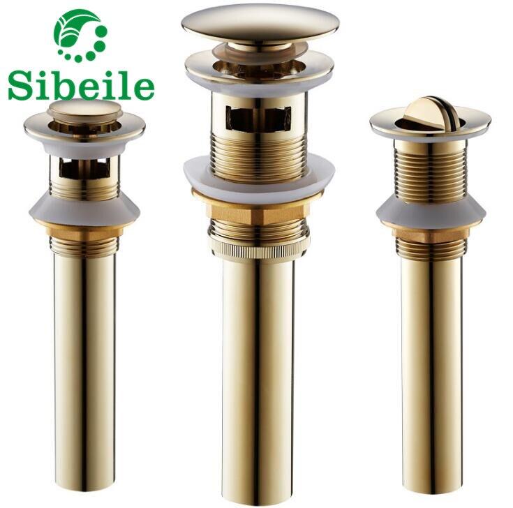 SBLE Overflow Brass Bathroom Lavatory Sink Pop Up Drain ...