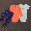 2017 New Baby Spring Clothing Newborn Summer Clothing Sets Romper+Pants Boys Cotton Jumpsuit 15E