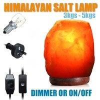 Himalayan Crystal Rock SALT LAMP Natural Pink Crystal Available Night Light Air Purifier