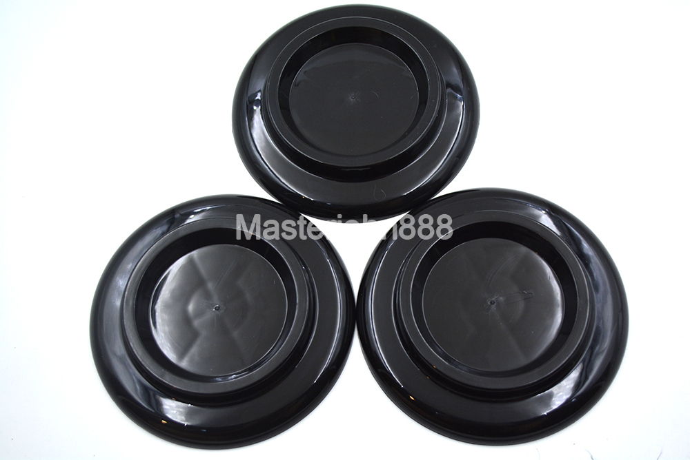 Box Of 3pcs Black Janpanese Plastic Grand Piano Caster Cup Foot Pad Shockproof