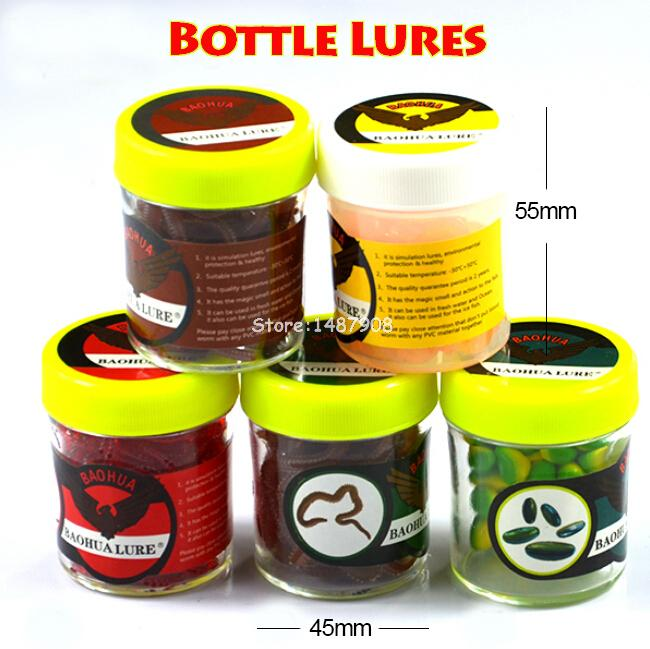 1 pc 40g Mini Bottle Soft Fishing Lures Earthworms Smellworms Seaworms Corns Worms Capsule Bait Carp fishing L391 1 bottle free shipping aloe softgel soft capsule improve the immunity