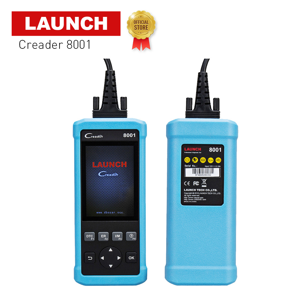100% Original Launch DIY Code Reader CReader 8001 Full OBD functions ABS SRS with 2 Reset functions