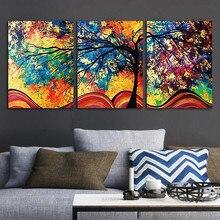 Картина на холсте стены искусство абстрактное дерево искусство стены картины печать на холсте украшение дома печать без рамки картина искусство печать