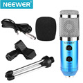 Neewer Blue NW-300E Professional USB Condenser Microphone with Butterfly Clip Holder Desktop Tripod Stand+XLR Female-USB+3.5mm