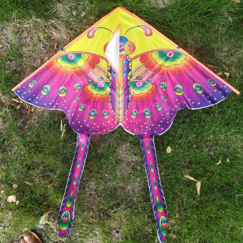 1 random delivery new children 39 s kite bright cloth HD hot stamp small butterfly kite outdoor breeze easy to fly kite toy in Kites amp Accessories from Toys amp Hobbies