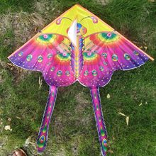 1 random delivery new childrens kite bright cloth HD hot stamp small butterfly outdoor breeze easy to fly toy