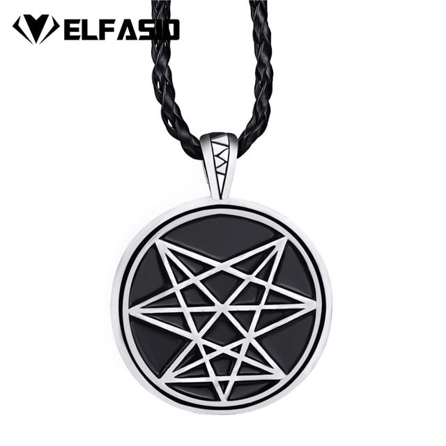 Mens chaos star symbol amulet boys pendant necklace wholesale mens chaos star symbol amulet boys pendant necklace wholesale jewelry lp304 aloadofball Gallery