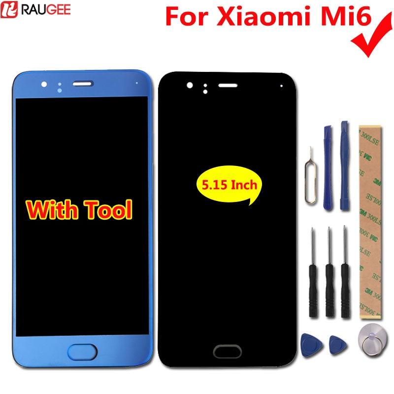For Xiaomi Mi6 LCD Display+Touch Screen 100% New Test Good Digitizer Screen Glass Panel For Xiaomi MI6 MI 6 5.15 inch