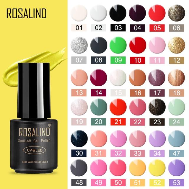 ROSALIND 7 ml żel polski paznokci hybrydowy zestaw do manicure dla Poly Gel malarstwo art lampa UV LED lakier do paznokci Varinishes