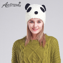 AETRENDS  Panda gorros de invierno sombreros para mujeres tapas Z-3080 d58132c426f