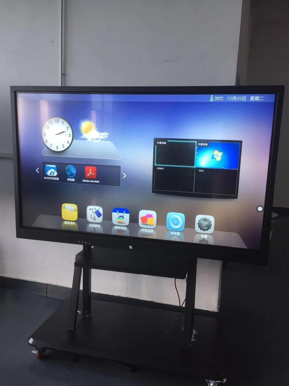 DIY 43 49 55 65 дюймов ЖК социальной медиа дисплей киоск/Digital Signage/сенсорный экран монитора с ПК Встроенный