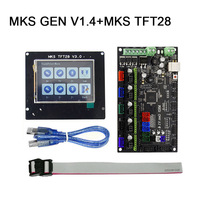 New Hot MKS GEN V1.4+MKS TFT32/TFT28 Touchscreen 3D Printer DIY Starter Kit with Cable Compatible Ramps1.4 8 99