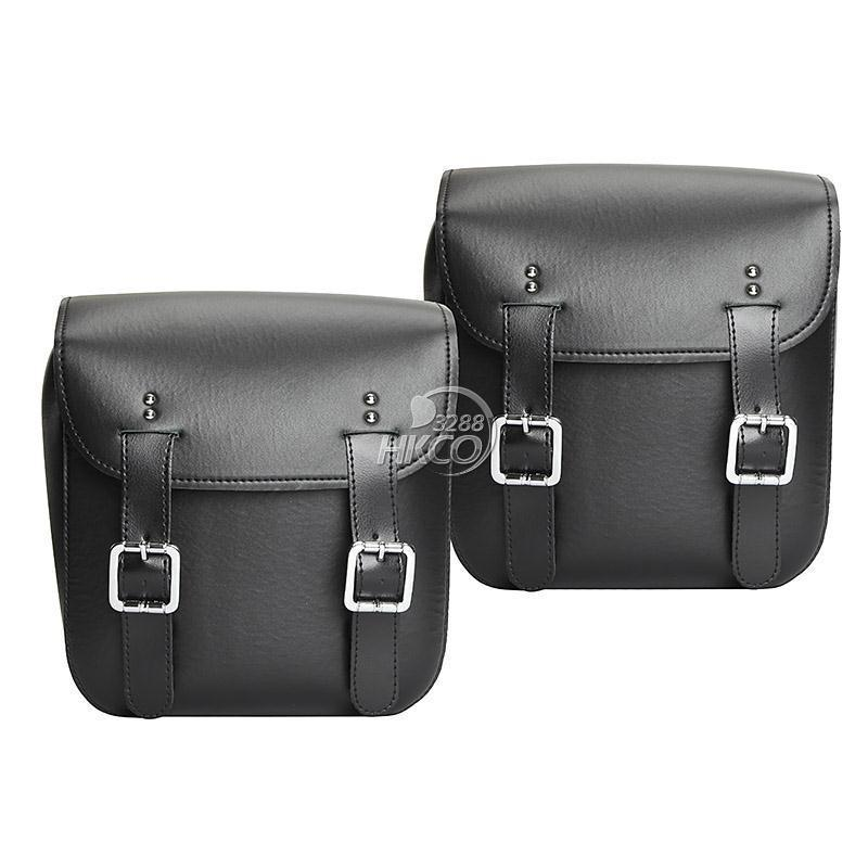 2X PU Leather Motorcycle Saddlebag Rear Side Bags For Honda Suzuki Yamaha Kawasaki Harley Davidson Ducati KTM ...