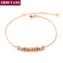 Top Quality  Ripple Small beads Rose Gold White Gold Plated Bracelet Jewelry Wholesale ZYH215 ZYH216