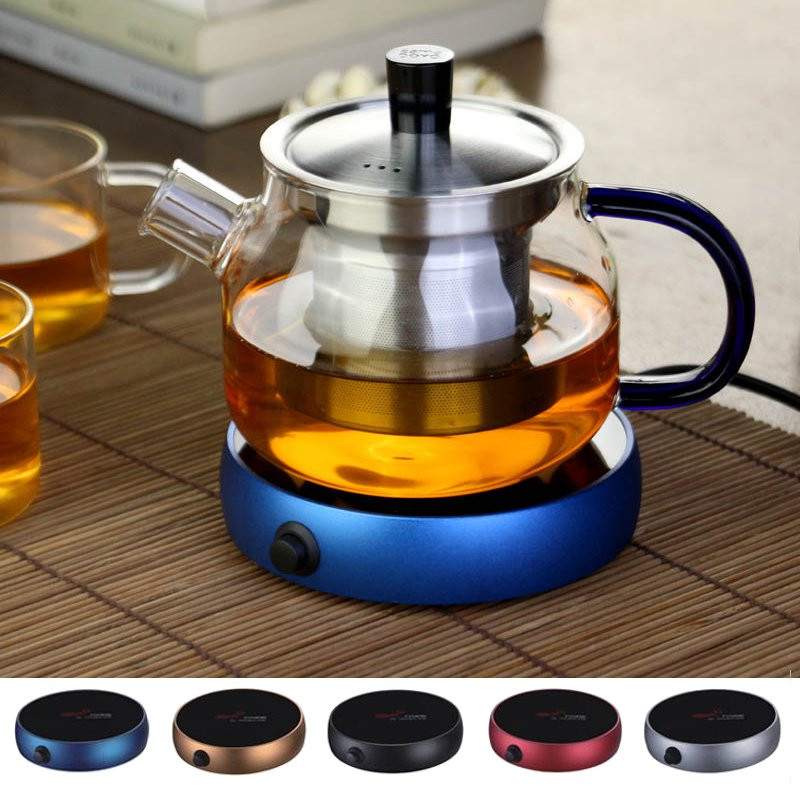 Electric Heating Coasters Water Heater Portable Desktop Coffee Milk Tea Warmer Heater Cup Mug Warming Trays 5 Colors Home Office