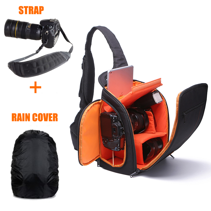 Camera Shoulder Bag Digital Video Photo Camera Sling Bags Box Cases Waterproof w/Rain Cover for DSLR Canon Nikon Sony Pentax D8 benro beyond b200 backpack camera bag nylon waterproof dslr camera bag case for canon nikon camera rain cover