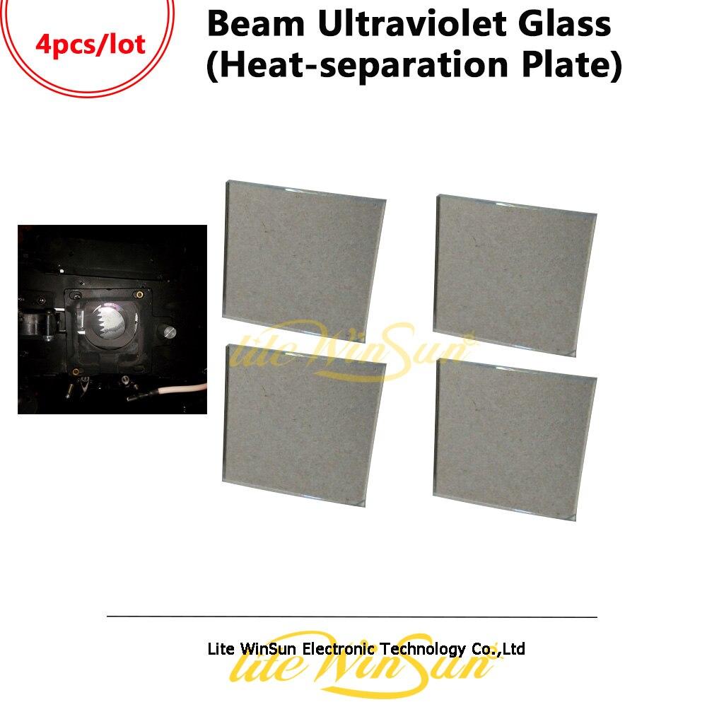 Litewinsune 4 sztuk darmowa wysłać ultrafioletowe szkła ciepła do separacji płyta części lampy dla wiązki 5R 200 W Beam R7 230 W z ruchomą głową w Oświetlenie sceniczne od Lampy i oświetlenie na