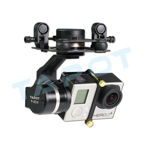 Support de caméra à cardan 3 axes en métal Tarot 3 DIII avec moteur et contrôleur pour GoPro Hero 3/3 +/4
