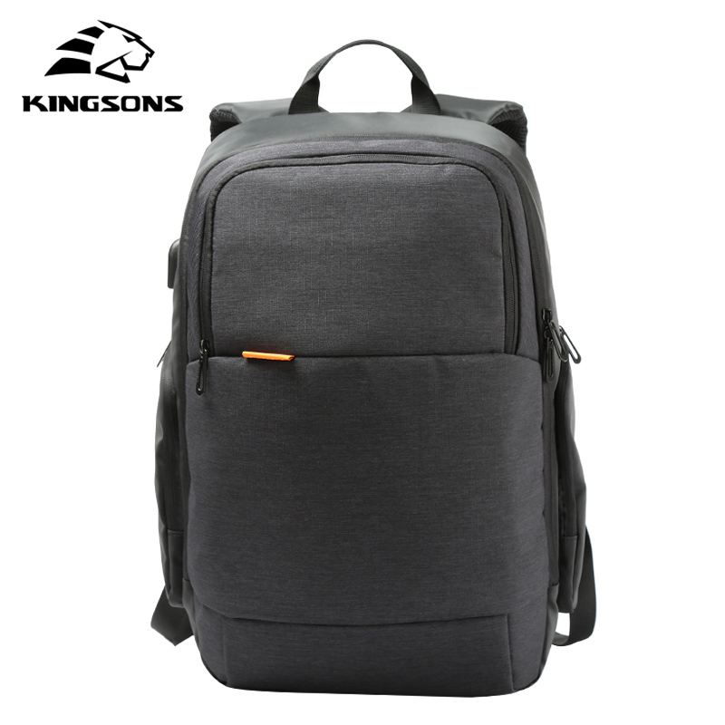 Kingsons Brand External USB Charge Laptop Backpack Anti-theft Notebook Computer Bag 15.6 inch for Business Men Women KS3143W brand external usb charge computer bag anti theft notebook backpack 15 17 inch black waterproof laptop backpack for men women