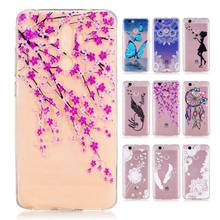 For Huawei mate 9 mate9 phone case cartoon girl flower dandelion butterfly wolf soft skin back shell smartphone cover,new