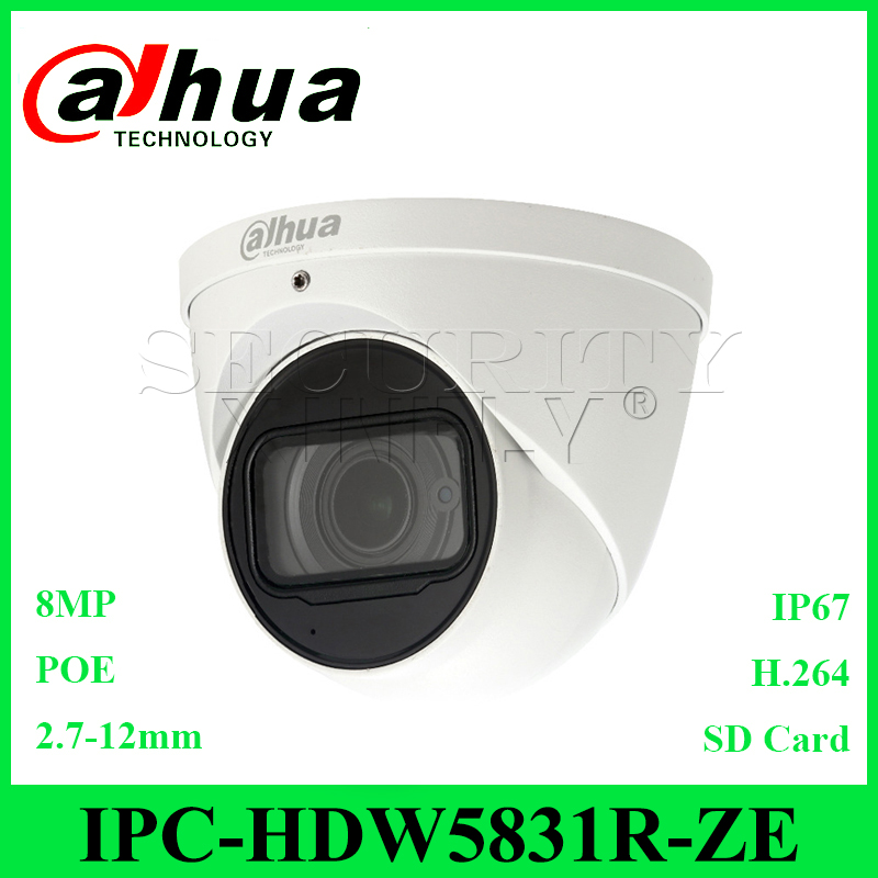 Dahua Original IPC-HDW4831EM-ASE 4K 8MP IR Eyeball Network Camera English
