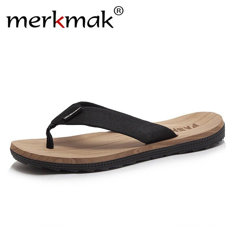 Flip Flops Merkmak 2019 Men Summer Flip Flops Shoes Casual Beach Sandals Male Fashion Outdoor Slipper Flip-flops High Quality Footwear Male Colours Are Striking