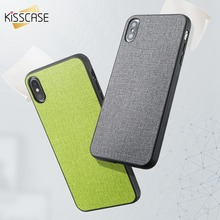 KISSCASE Original Leather Cloth Phone Case For Motorola Moto G6 play Solid Color Simple Plus Play Capinha