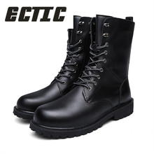 ECTIC Military Boots Men spring Shoes Warm Men Leather Boots Footwear  Cowboy Tactical Boots Men Casual Shoes Size 38 48 DP 105-in Snow Boots from Shoes  on ... 610a53ae9321