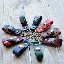 Retro High-Grade Car Key Chain Women Men Keychains Vintage Cow Leather Ring Holder Bag Pendant Jewelry Gifts for