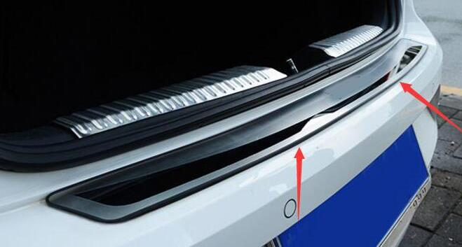 Free Shipping Inner Rear Bumper Sill Car Accessories Trunk Trim For VW for Volkswagen Polo hatchback 2011 2014 in Trunk trim from Automobiles Motorcycles