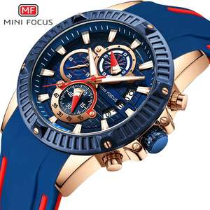 Image 2 - MINIFOCUS Top mannen Mode Sport Horloges Mannen Quartz Analoog Datum Klok Man Siliconen Militaire Waterdicht Horloge Relogio Masculino
