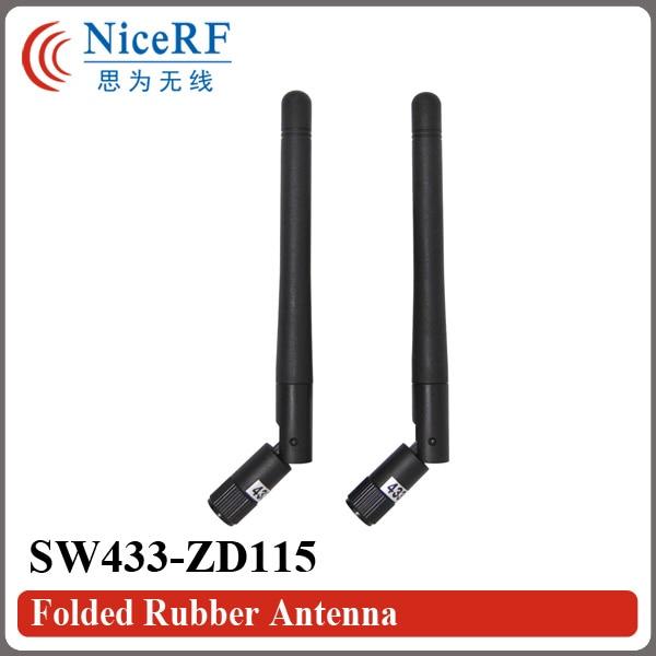 10 шт. / Лот SW433-ZD115 433 МГц Усиление 2,15 дБи Складная резиновая антенна с мужской головкой SMA для беспроводного модуля