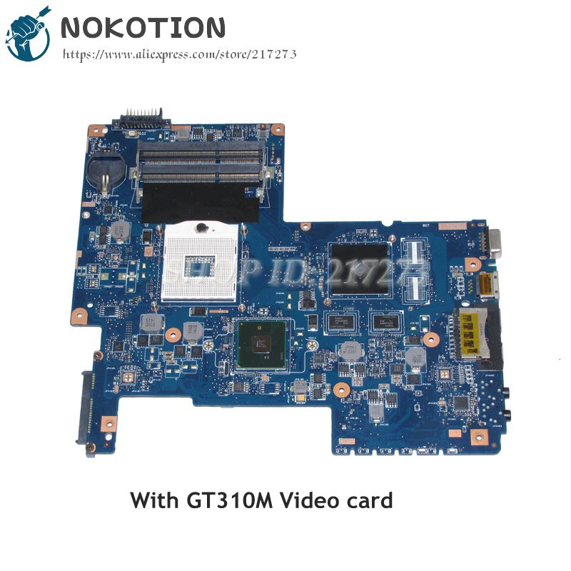 NOKOTION H000031380 Laptop Motherboard For Toshiba Satellite C670 MAIN BOARD HM55 DDR3 GT310M Video card nokotion laptop motherboard for dell vostro 3500 cn 0w79x4 0w79x4 w79x4 main board hm57 ddr3 geforce gt310m discrete graphics