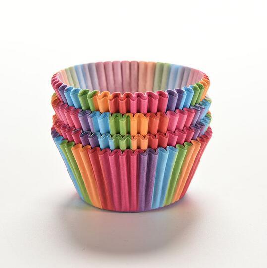 <font><b>Rainbow</b></font> <font><b>color</b></font> 100 pcs <font><b>cupcake</b></font> <font><b>liner</b></font> <font><b>baking</b></font> cup <font><b>cupcake</b></font> <font><b>paper</b></font> muffin cases <font><b>Cake</b></font> box Cup tray <font><b>cake</b></font> mold decorating tools