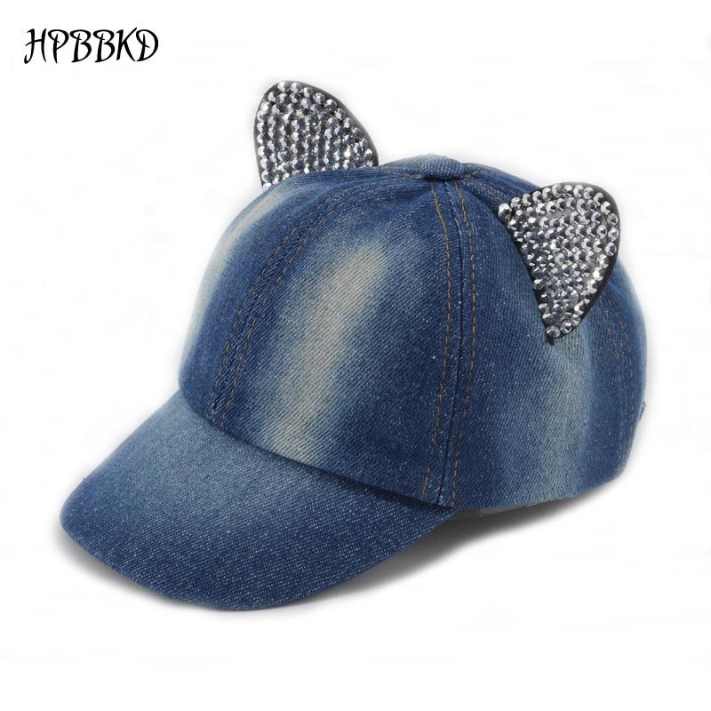 2018 New Baby Girl Cap Jean Denim Style Kids Snapback Baseball Hat Outdoor  Girls Sun Hat Kids Hip-hop Cap XH-041 f84dca11f2d