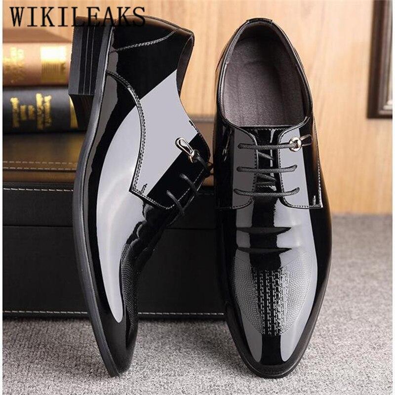 2019 Italienische Mann Schuhe Hochzeit Schwarz Formale Schuhe Männer Luxus Marke Mens Kleid Schuhe Oxford Schuhe Für Männer Sapato Sozialen Masculino