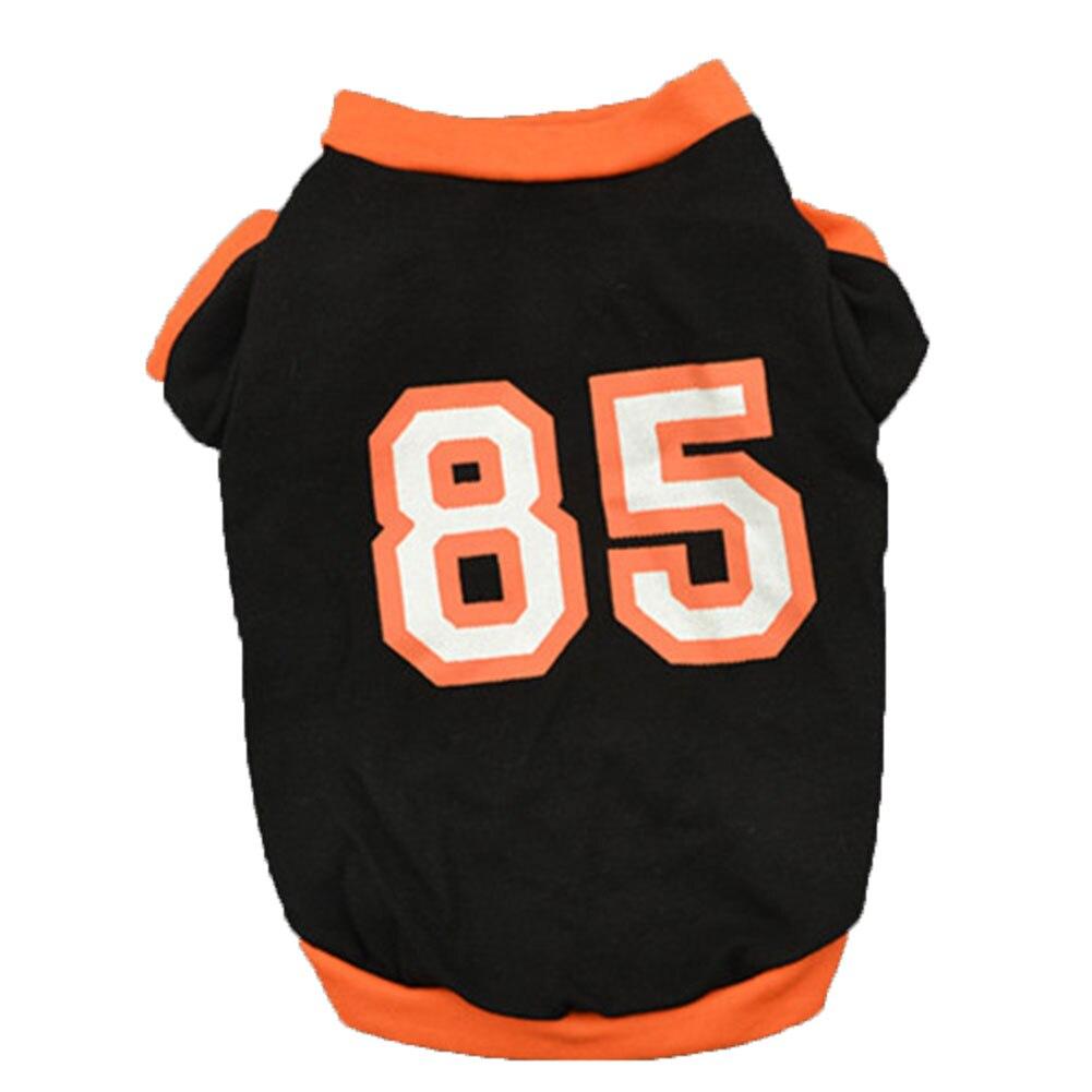 Leisure Sports 85 Number Short Sleeves Pet Vest Cat Dog Soft Summer Tank Top