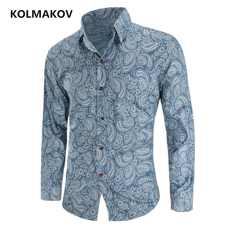 2019 New Arrival Men's Flower Color Shirt Spring Man Shirt Social Casual Fashion Shirt Masculina Chemise Homme Long Sleeve Shirt