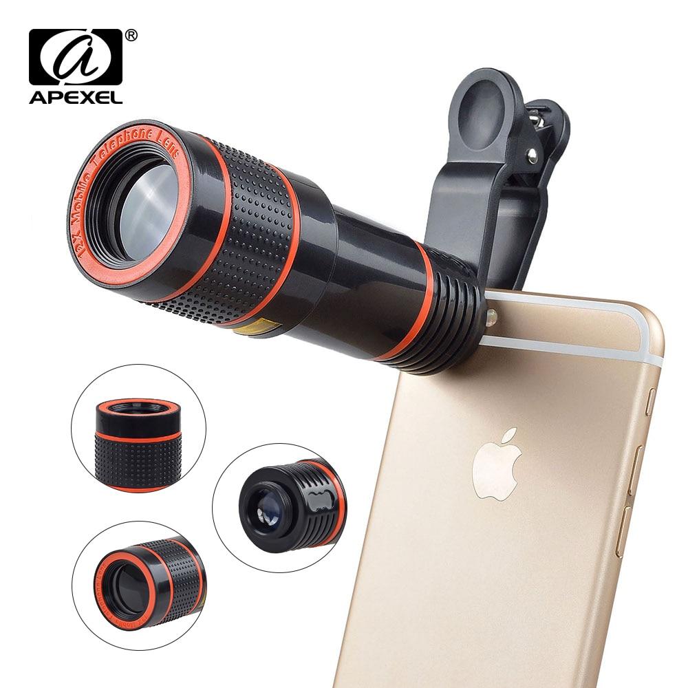 2017 12X Zoom Telefonlinsa Universal telelinselins med stativhållare - Reservdelar och tillbehör för mobiltelefoner