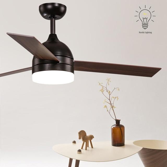 Superior Télécommande Ventilateur Industriel LED Classique Loft Moderne Noir Blanc  Design Scandinave Ventilateur De Plafond Pour Chambre