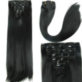 23inch 160g 7pcs/set Fake Hair Extension Synthetic Straight Clip In Hair Extensions Heat Resistant Multicolor Hair Piece