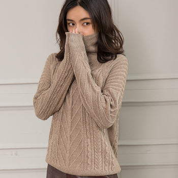 Women Sweaters 100% Cashmere and Wool Knitting Pullovers