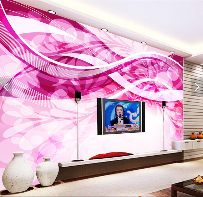 Custom modern 3 d mural,Fantasy Fashion Line papel de parede,hotel ...