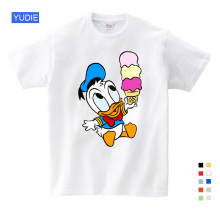 Fashion Cartoon T Shirt Summer Children Tops Animal Mouse Donald Duck Fool Dog New 2019 Sport