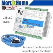 XHC MK3 V Mach3 USB 3 Axis CNC Breakout Board Motion Control Card 2MHz Support Resume from Breakpoint & Spindle Speed Feedback