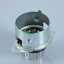 5pcs Black 9 Pin Female Vacuum B9A Tube Socket With Shield Base for ECC81/2/3