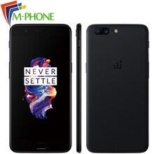 Оригинальный OnePlus 5 Oneplus5 5.5 дюйма Snapdragon 835 Octa Core 6 ГБ 64 ГБ мобильного телефона 16MP + 20MP 3300 мАч NFC отпечатков пальцев Смартфон